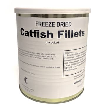 Freeze-Dried Catfish Fillets