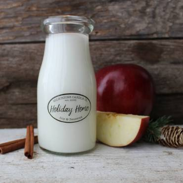 Holiday Milk Bottle Candles
