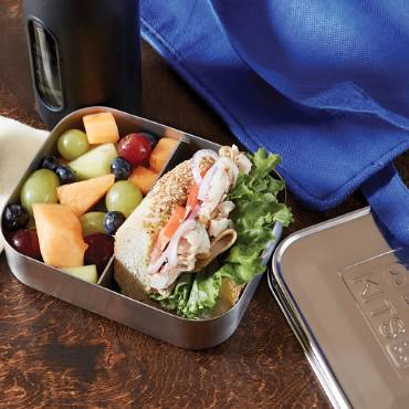 Stainless Steel 2-Compartment Snack Container