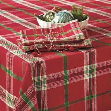 "Joyful Plaid Tablecloth 84"" x 60"""
