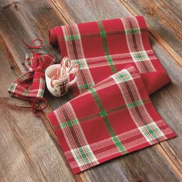 Joyful Plaid Cotton Napkins - Set of 4