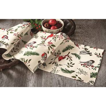 Birds and Berries Table Runner