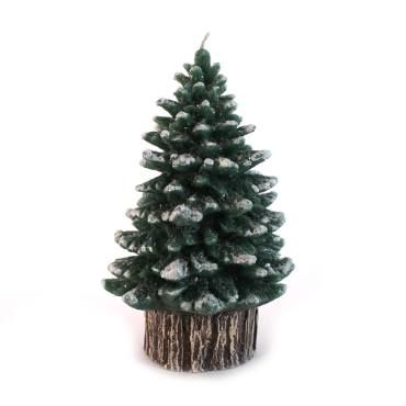 Rustic Spruce Tree Candles