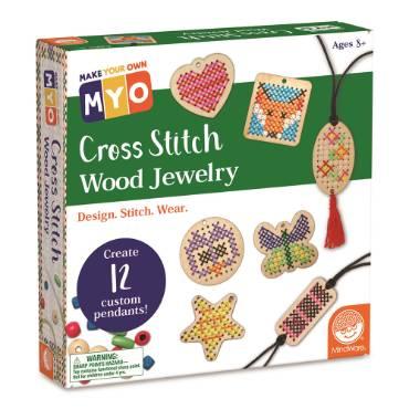 Make Your Own Cross-Stitch Wood Jewelry