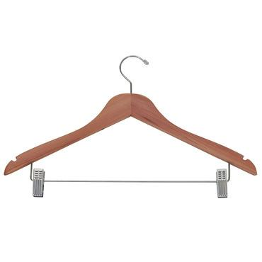 Cedar Hangers with Skirt and Pant Clips - Pack of 4