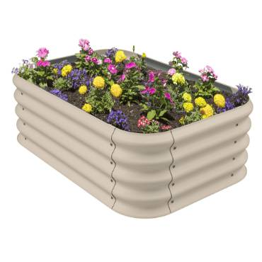 Corrugated Steel Raised Garden Bed