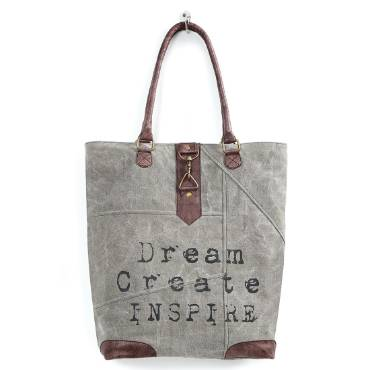 Upcycled Dream Create Inspire Tote
