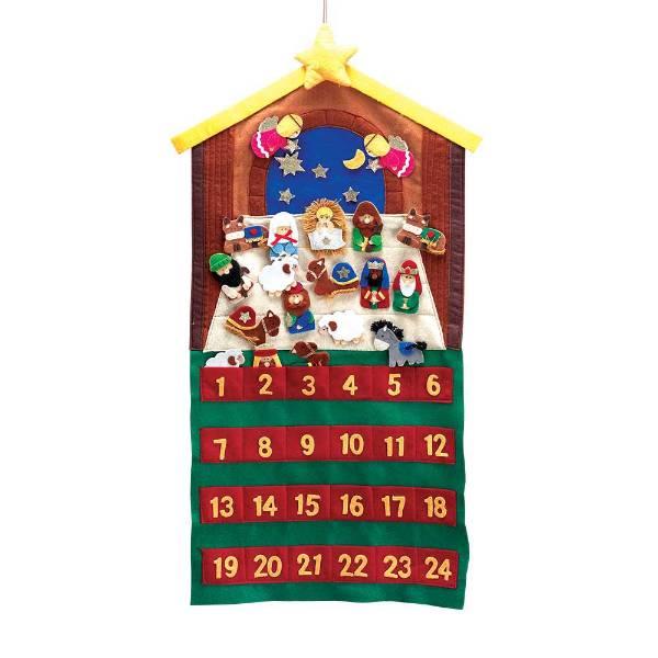 Felt Nativity Scene Advent Calendar