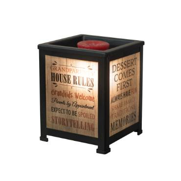 Grandparents' House Rules Lantern Warmer