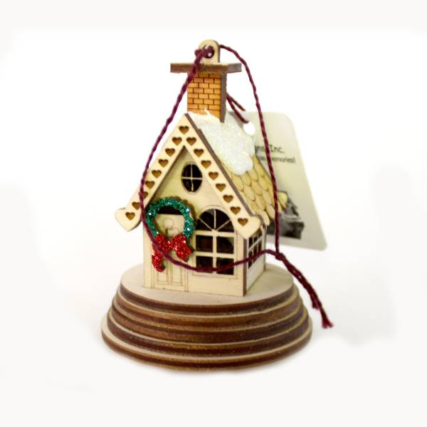 Handmade Elf Ginger Cottage Ornament