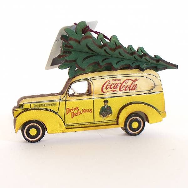 Handmade Coca-Cola Panel Van Ornament