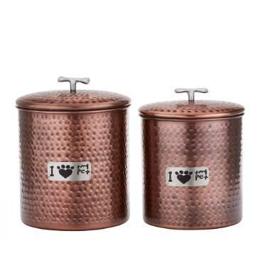 Jumbo Copper Pet Canister Set