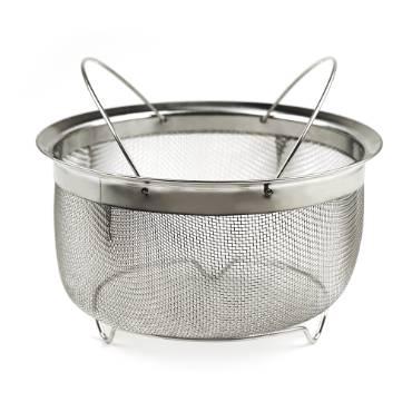 3-Qt Mesh Basket with Folding Handles