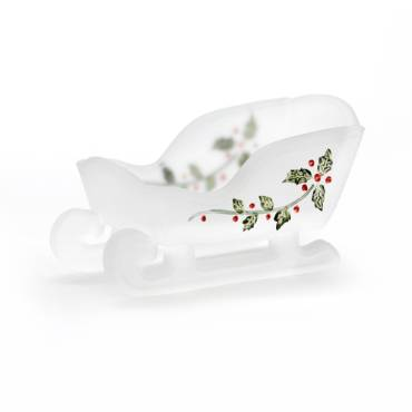 Decorated Glass Sleigh