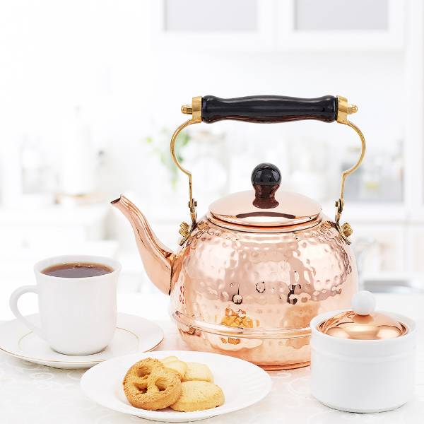 Hammered Copper Tea Kettle