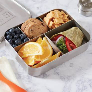 Stainless Steel 5-Compartment Snack Container