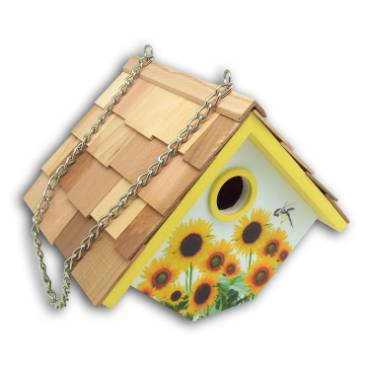 Sunflower Wren Hanging Birdhouse