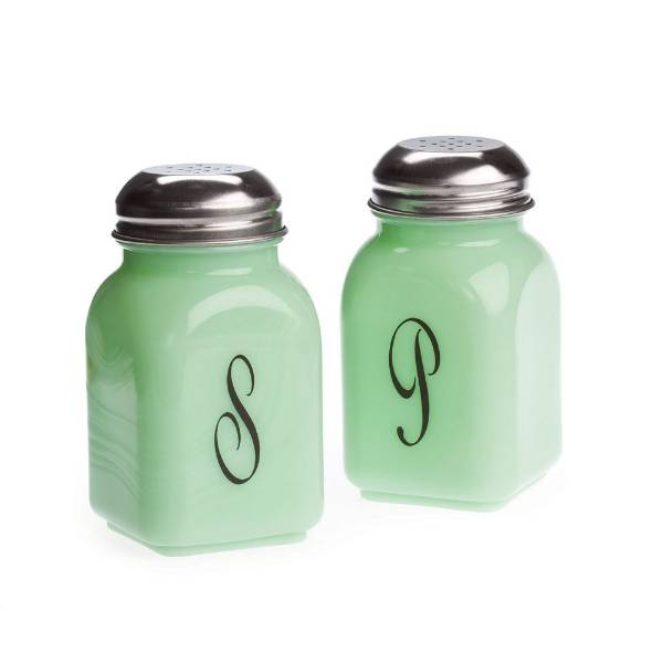 Vintage-Style Glass Salt and Pepper Shakers