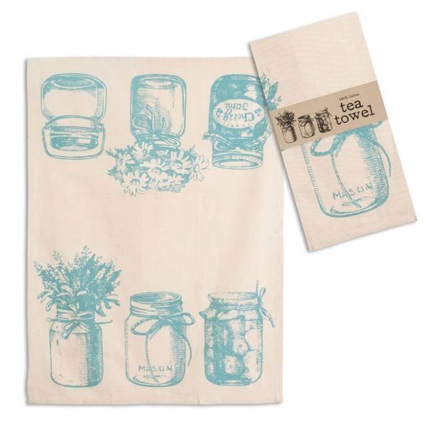 Canning Jar Tea Towels - Set of 4