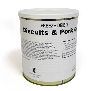 Freeze-Dried Biscuits and Gravy