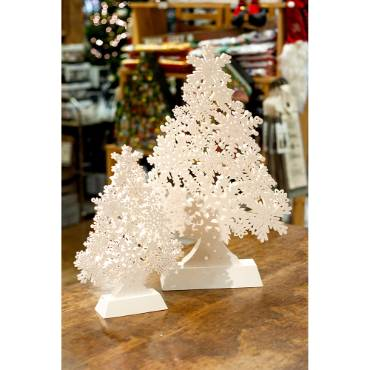 Snowflake LED Trees - Set of 2