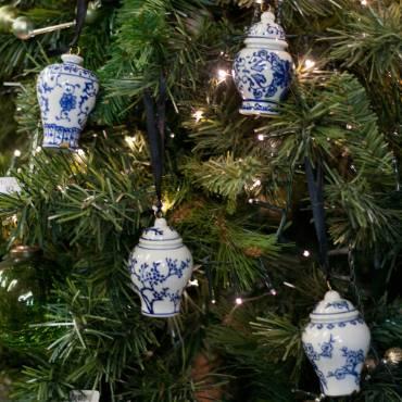 Ginger Jar Ornaments - Set of 4