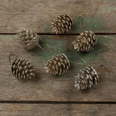 Decorative Gold Pinecones - Set of 6