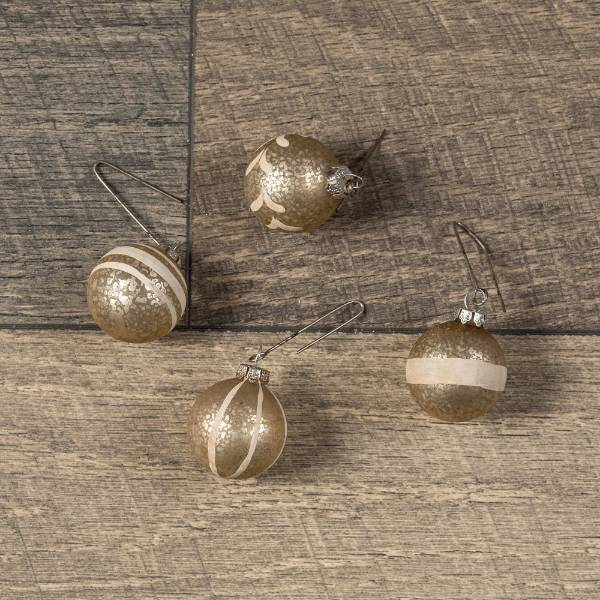 Vintage-Style Champagne Ornaments - Set of 4