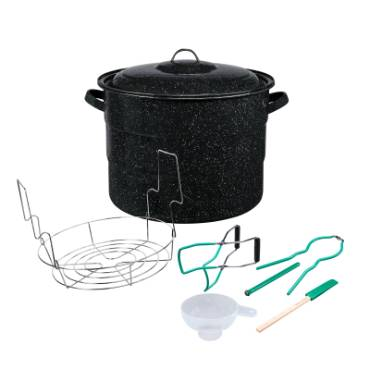 Enamelware 21-1/2 Qt Canner with 5-Piece Tool Set
