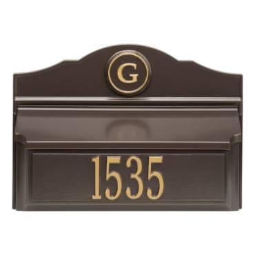 Whitehall Custom Wall Mount Mailbox - Bronze/Gold
