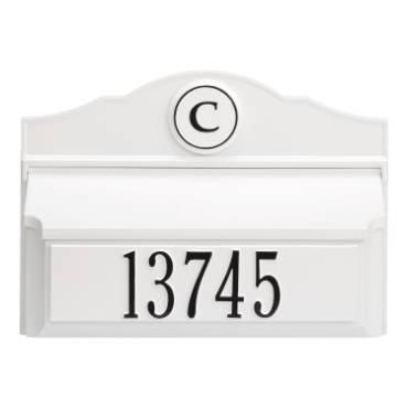 Whitehall Custom Wall Mount Mailbox - White/Black