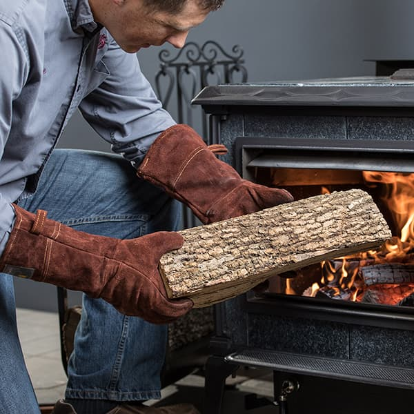 Leather Wood-Burning and Grilling Gloves