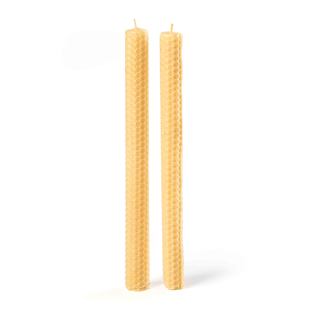 how to make rolled taper beeswax candles
