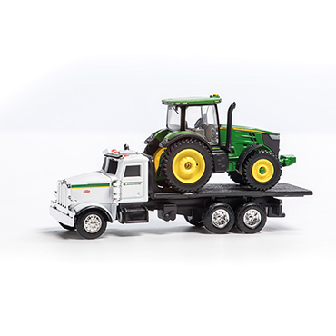 John Deere Mini Tractor and Peterbilt Truck Toy