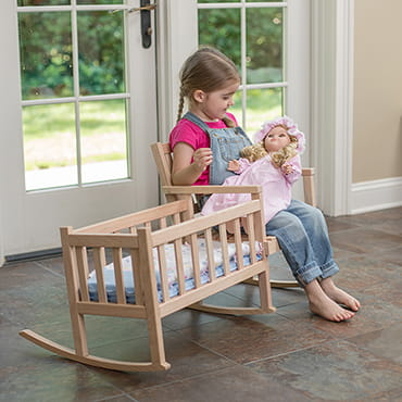 Eli & Mattie Doll Rocker and Cradle