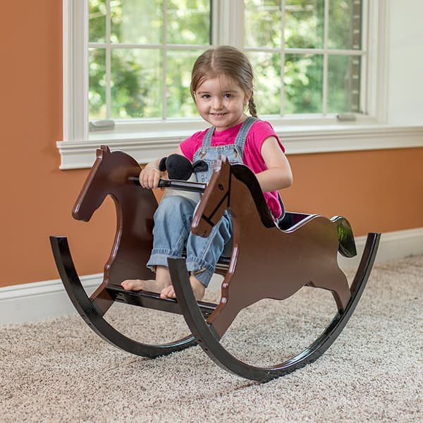 Eli & Mattie Amish Buggy Rocking Horse