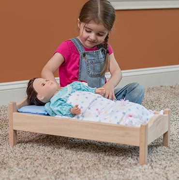 Eli & Mattie Flannel Doll Quilt