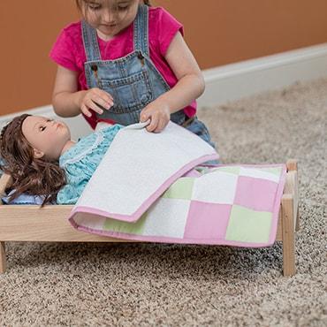 Eli & Mattie Patchwork Doll Quilt
