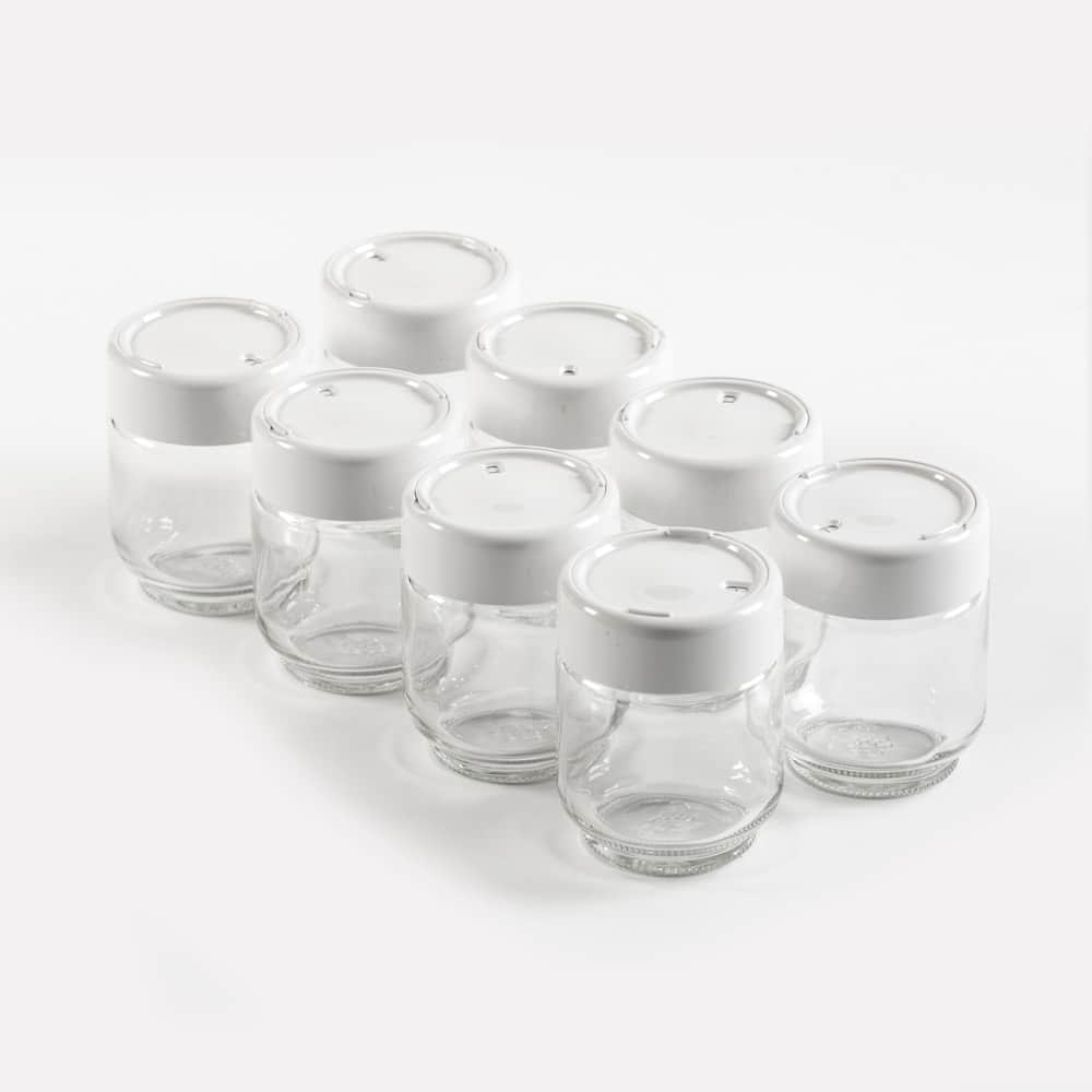 Glass Yogurt Jars – Pack of 8