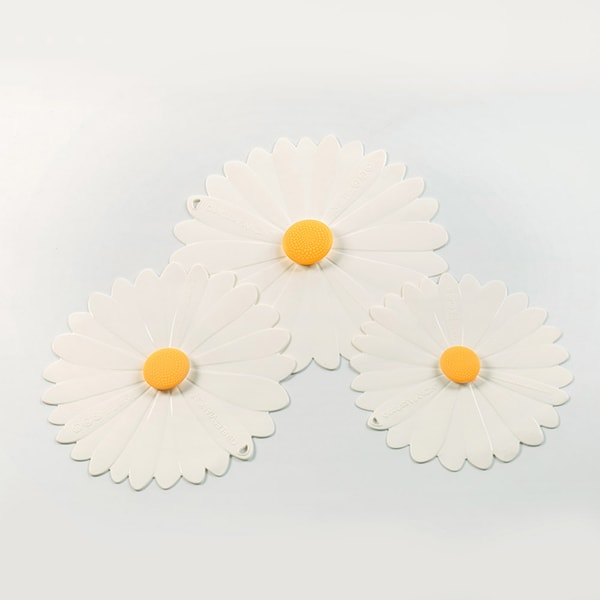 Reusable Bowl Covers – White Daisy