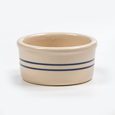 Heritage Blue Stripe Stoneware Ramekin
