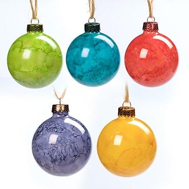 Hand-Painted Christmas Bulbs