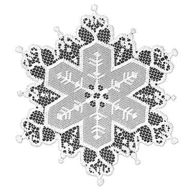 """Snowflake Doily Set - 9""""OD"""