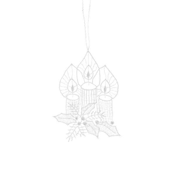 Macrame Candlelight Ornament