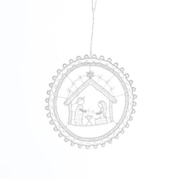 Macrame Holy Family Ornament