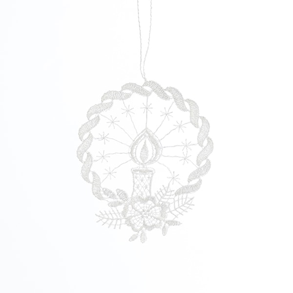 Macrame Wreath & Candle Ornament
