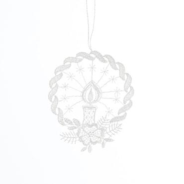 Macrame Wreath & Candle Ornament
