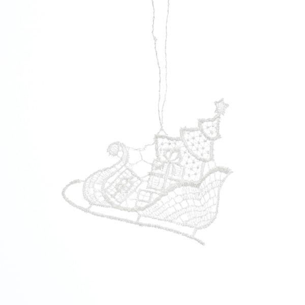 Macrame Sleigh Ride Ornament