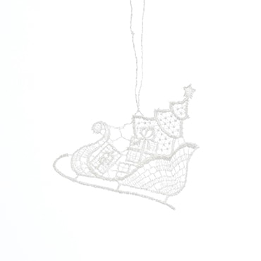 Macrame Sleigh Ride Ornament