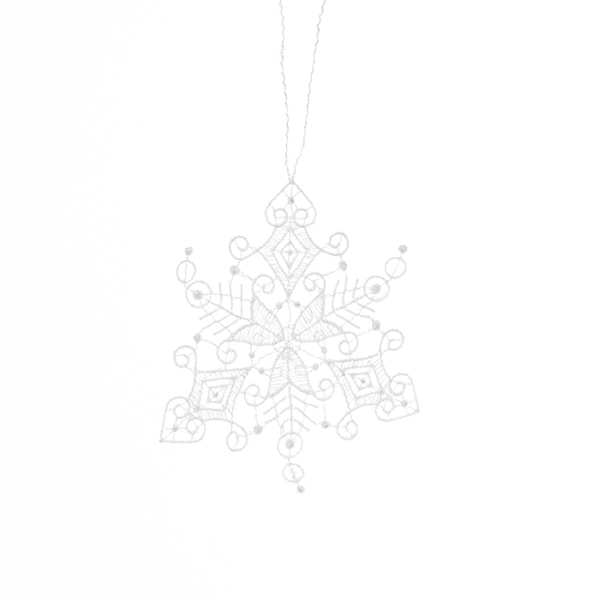 Macrame Snowstar Ornament